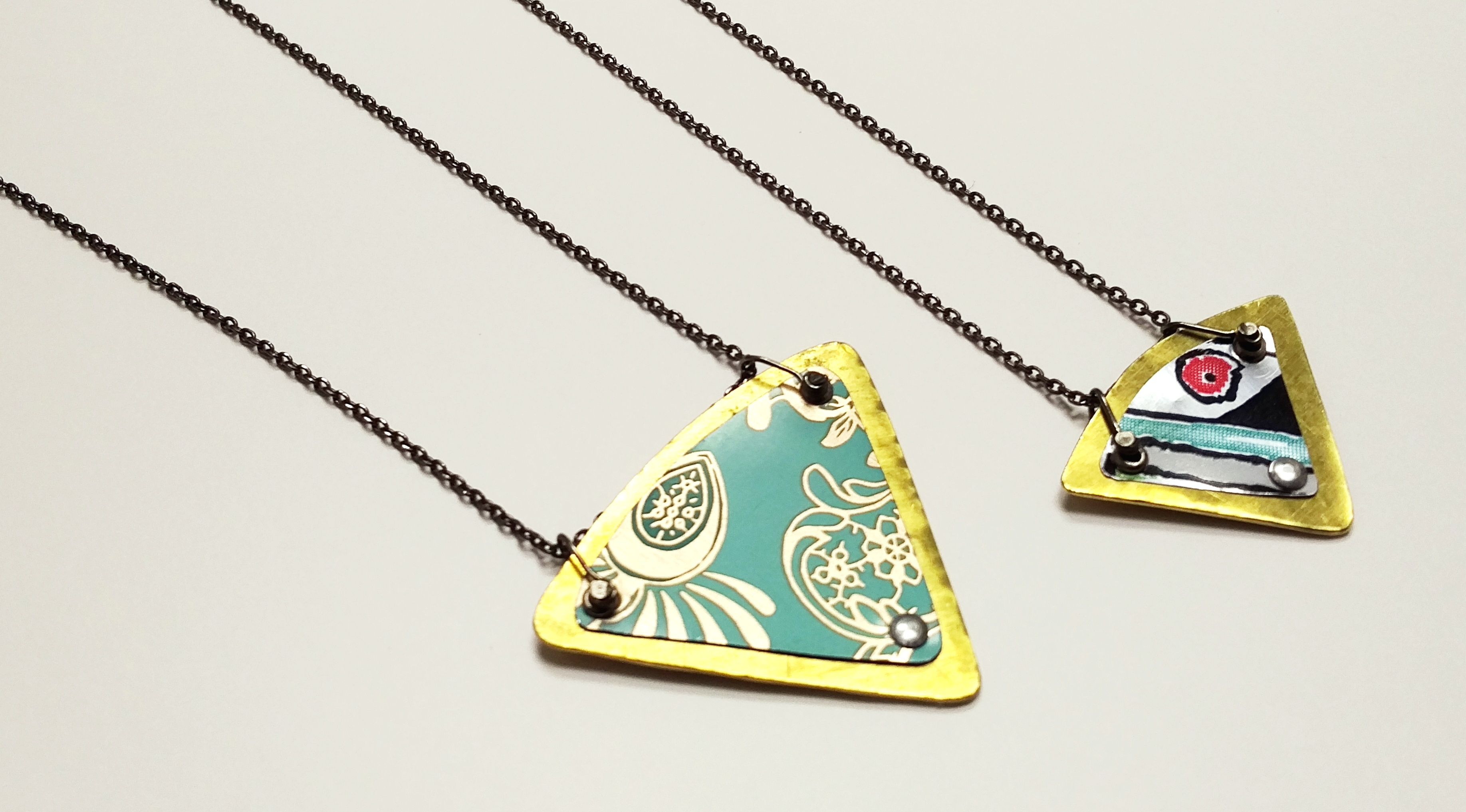 Triangle Tin Necklaces