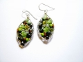 Snowshoe Earrings - Green