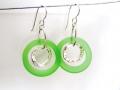 Leaf Green Earrings