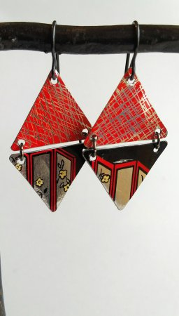 Double Triangle time earrings